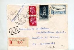 Lettre Recommandée Sainte Pience Sur Mystere Cheffer Rodez - Poststempel (Briefe)