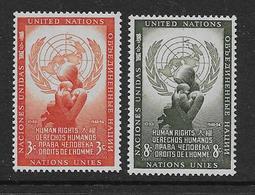 Nations Unies Timbres De New York YT 29, 30 (série Complète) Neufs*. - Stamps