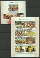 BC1128 2010 MOZAMBIQUE ART PAINTINGS NATAL CHRISTMAS GIOTTO EL GRECO TITIAN BL+KB MNH - Religious