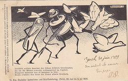 Journalisen- & Schriftstellertag, Zürich - Künstlerkarte Sign. -1899         (P-198-90224) - Recepciones
