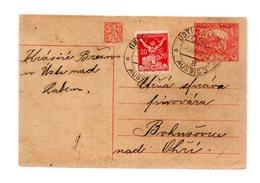 Entier Hradcany 20 + 20   Tarif 1/*8/20  11/1920 - Cartes Postales