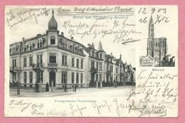 67 - STRASSBURG - STRASBOURG NEUDORF - Gruss - Evangelisches Vereinshaus - Münster - Strasbourg