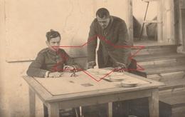 CP Photo 1917 PARPEVILLE (près Ribemont) - Quartier Allemand, étude De Carte (A218, Ww1, Wk 1) - War 1914-18