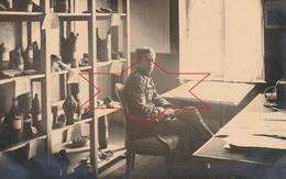 CP Photo 1917 PARPEVILLE (près Ribemont) - étude Sur Les Obus, éclats Avec Prénom... (A218, Ww1, Wk 1) - War 1914-18