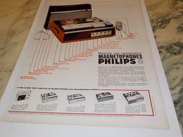 ANCIENNE PUBLICITE MAGNETOPHONES DE PHILIPS  1966 - Autres