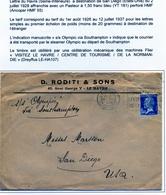 Enveloppe Le Havre 1928 Perforé HMF 55 - France