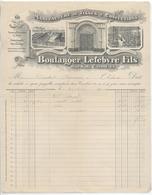 CAMBRAI : BOULANGER-LEFEBVRE Fils, Manufacture Tissus & Confections, Rue Sadi Carnot / L. De 1914 - France