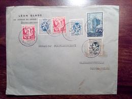 1935 BELGIUM / BELGIQUE To ELISABETHVILLE CONGO BELGE Commercial Cover Envelope Enveloppe Lettre - Belgien