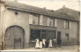 CPA PHOTO . HETTANGE LA GRANDE . BOUCHERIE NICOLAS EULINGER - Autres Communes
