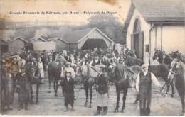 29 - KERINOU ( BREST ) GRANDE BRASSERIE ( BIERE Croix Lorraine/Meuse ) Jolie CPA Animée - USINE INDUSTRIE Finistère - Brest