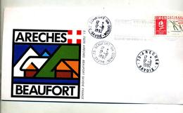 Lettre Cachet Flamme  Beaufort Areches  Flamme - Poststempel (Briefe)
