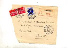 Devant De Lettre Recommandée Langourla Sur  Muller - Storia Postale