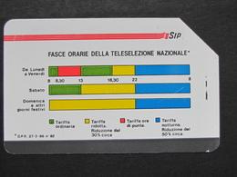 ITALIA 1107 C&C - FASCE ORARIE PIKAPPA 31.12.89 LIRE 5.000 - USATA USED - Italy