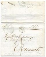 REPUBBLICA ROMANA - DA ANCONA A RECANATI - 13.4.1849. - ...-1850 Préphilatélie