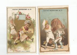 2 Chromos Cacao Bensdorp  Amsterdam Bussum - Chocolat