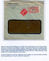 Enveloppe Le Havre 1927 Perforé G&F 50 - France