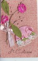 SAINTE CATHERINE  Bonnet Tissu Et Fleurs  1scans - Saint-Catherine's Day
