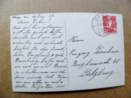Post Card Carte Switzerland Mountains Montagnes Berges 1937 360 Wangi - Lettres & Documents