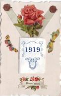 NOUVEL AN  Bonne Année Avec Agenda Calendrier 1919  1scans - New Year