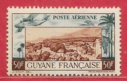 Guyane Française PA N°21 50F Vert-bleu & Brun-rouge 1942 ** - Nuevos