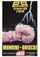"""Sports-Sport-Luigi Castiglioni Série """" BOXE """"(3) Rencontre MUNDINE-BRISCOE 25 Février 1974 Palais Des Sports - PRIX FIXE - Boxing"""
