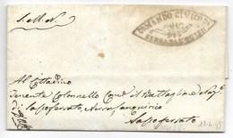 REPUBBLICA ROMANA - DA SERRASANQUIRICO A SASSOFERRATO - 19.4.1849 - ...-1850 Préphilatélie