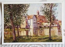 SISLEY ALFRED... VUE DE MORET SUR LOING - Peintures & Tableaux