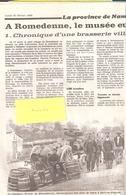 Article De Presse-1989-Romedenne-Musée Européen De La Brasserie-Brasseur Bouty-Cornette, Machine Cueillette Du Houblon - Andere Sammlungen