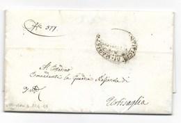 REPUBBLICA ROMANA - DA URBISAGLIA PER CITTA' - 21.4.1849. - ...-1850 Préphilatélie