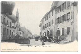 Cpa..suisse ..BOUDRY....dans Le Haut De La Ville....animée... - NE Neuenburg