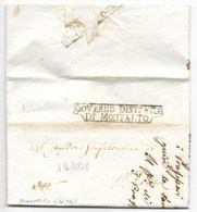 REPUBBLICA ROMANA - DA MONTALTO PER CITTA' - 4.4.1849. - ...-1850 Préphilatélie