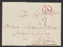 """Précurseur - LAC Datée De Antwerpen (1775) + Cachet Rouge """"A"""" Et Taxe """"2"""" Vers Brussel - 1714-1794 (Austrian Netherlands)"""