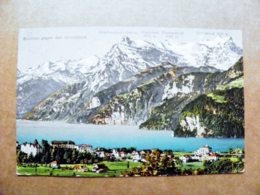 Post Card Carte Switzerland Mountains Montagnes Berges 1912 Brunnen - Storia Postale