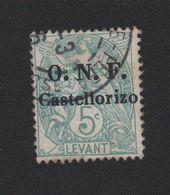 Faux Castellorizo N° 17a Surcharge Noire 5 C Blanc Oblitéré - Castellorizo (1920)