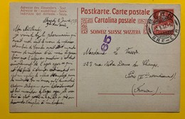 9658 -  Entier Postal Tell 10 Ct Rouge Bern 2.01.1917 Pour Paris - Interi Postali