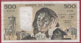 """500 Francs """"Pascal"""" Du  03/04/1980.B----F/TTB+-----ALPH B.109 - 500 F 1968-1993 ''Pascal''"""