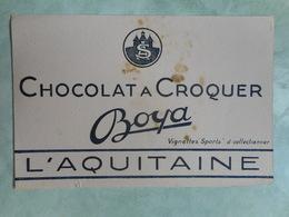 Buvard PUB CHOCOLAT BOYA - Chocolat