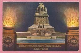 Ganzsache - Entier Postal - LEIPZIG  - Völkerschlacht-Denkmal 1913 - Besondere Stempel - Deutsches Reich 5 Pfennig - Germany