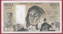 "500 Francs ""Pascal"" Du  06/01/1983.C----F/TTB+-----ALPH N.169 - 1962-1997 ''Francs''"