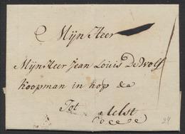 Précurseur - LAC Datée De Tongerloo 25/01/1789 Vers M. Jean Louis De Wolf Koopman à Aelst (Alost). - 1789-1790 (Brabant Revolution)