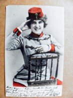 Post Card Carte Karte Austria Women In Uniform With Cigarette - 1850-1918 Imperium
