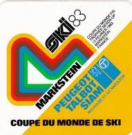 Autocollant - COUPE DU MONDE DE SKI 83 - MARSTEIN 68 - PEUGEOT TALBOT - Autocollants