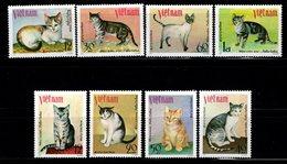 VIETNAM  - 1979 - Chats - YT N° 199 / 206 - ** - Série Complète - Katten