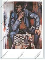 "SPORT - SCHACH, Künstler-Karte Willi Neubert ""Schachspieler"" - Schach"