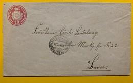 9674 -  Entier Postal Lettre 10 Ct Rouge  Herzogenbuchsee-Lausanne 10.03.1870 - Entiers Postaux