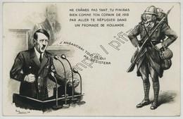(Guerre De 1939-45)  Adolf Hitler Par Paul Barbier . Ecrite Le 1er Janvier 1940 Par Un Pionnier EMR . - Guerre 1939-45
