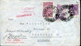 49928 Brasil, Zeppelin Cover 1933 From Sao Paulo To Hamburg Condor Zeppeli Brasil Europa (see 2 Scan) - Luchtpost