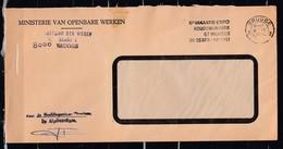 Brief Van Brugge 3 Ministerie Van Openbare Werken - Belgique