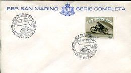 49931 San Marino,cover With Special Postmark Moto Racing Rallye Intern. Motorcycling - Moto