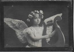 AK 0388  Mädchen Als Engerl Spielt Harfe - Motiv Um 1908 - Engel